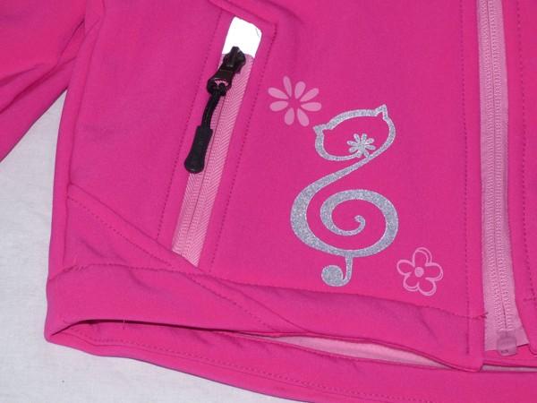 Dívčí softshelová bunda - s flaušem, růžová