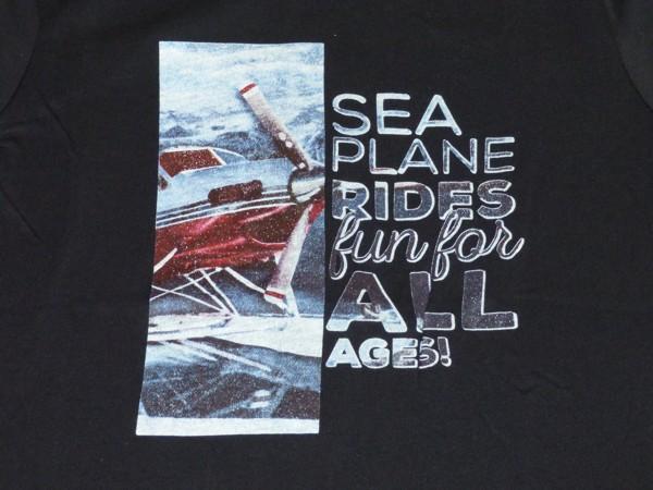 Chlapecké tričko dl.r. - Sea plane - černé