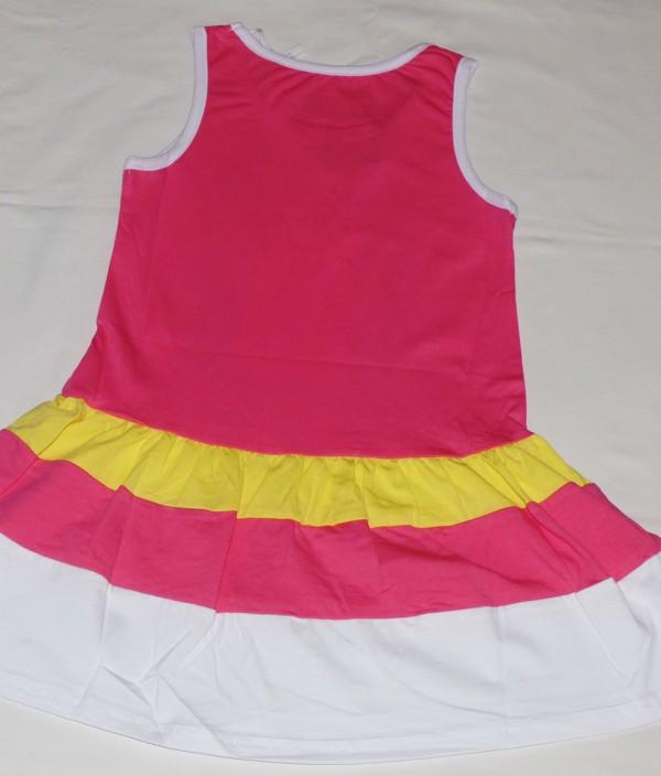 Dívčí šaty - Kůň, bílý lem