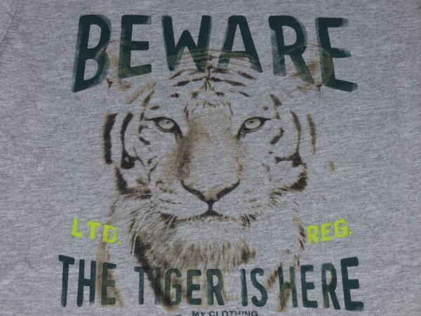 Chlapecké tričko dl.r. - Tygr - šedé