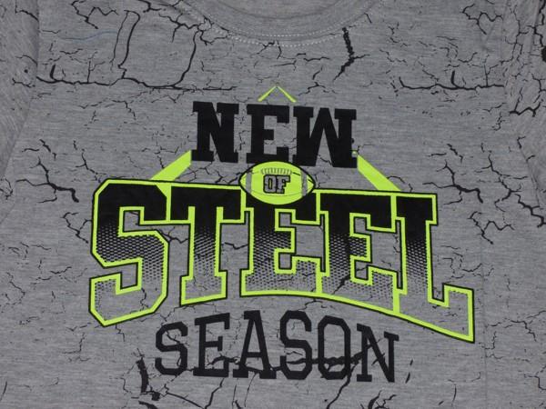 Chlapecké tričko - NEW STEEL - šedé