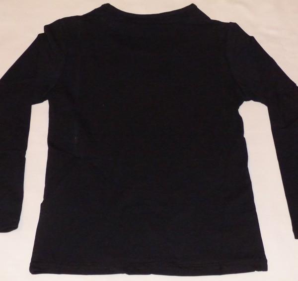 Dívčí tričko dl.r. - True love, černé