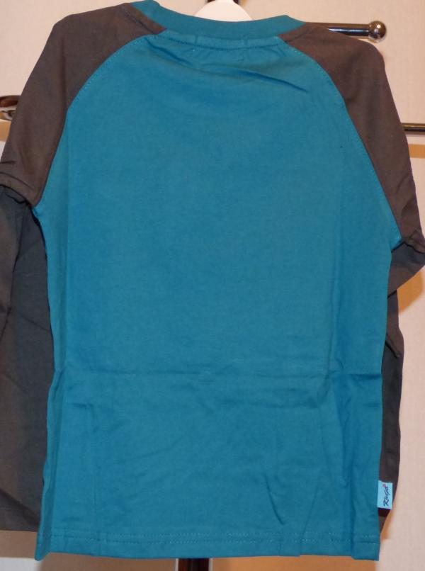 Chlapecké tričko s dlouhým rukávem - modré,černý r