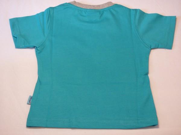 Chlapecké tričko - s bagry,tyrkysové