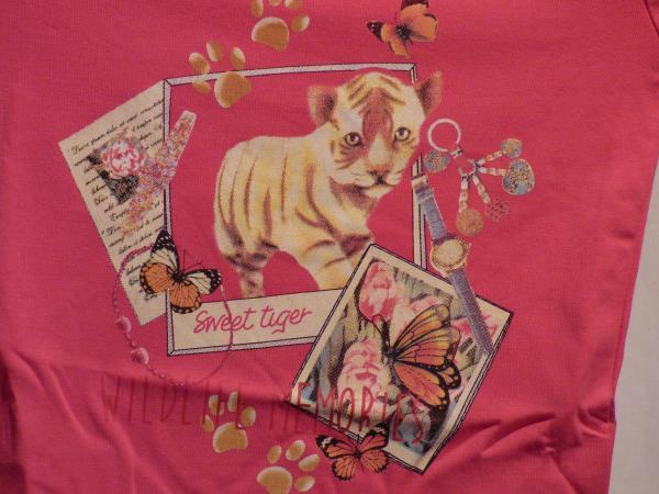 Dívčí tričko - tmavě růžová, dlouhý rukáv