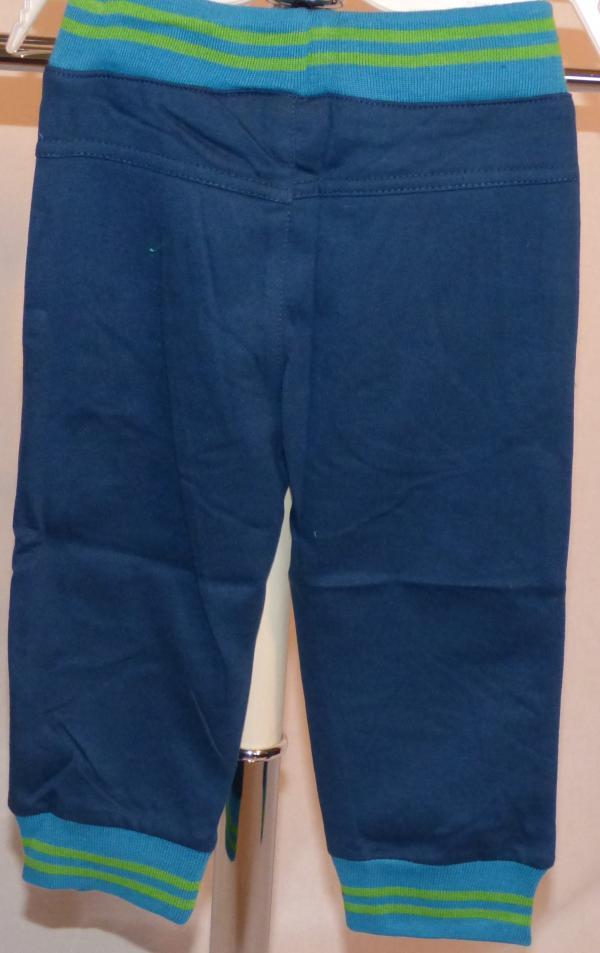 Chlapecké tepláky - tmavěmodré s modrým pasem