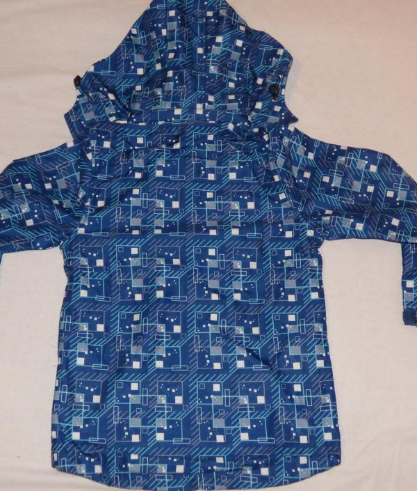 Chlapecká bunda - softshell,tm. modrá se sv. modro