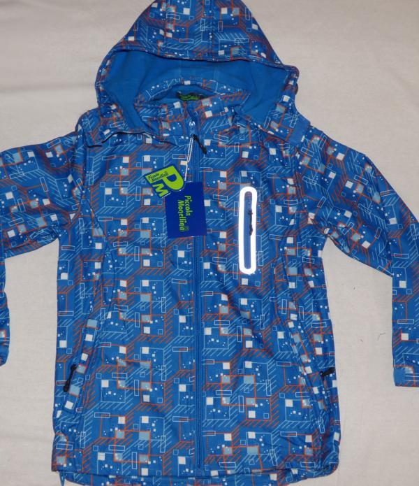 Chlapecká bunda - softshell,sv. modrá s oranžovou